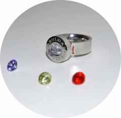 Кольцо Bulgari со сменными кристаллами