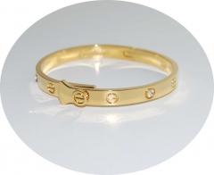 Браслет в стиле Cartier золотой