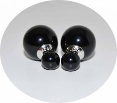 Серьги Mise En Dior черные 925