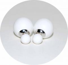 Серьги Mise En Dior белые 925