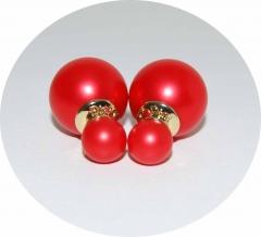 Серьги Mise En Dior красные матовые