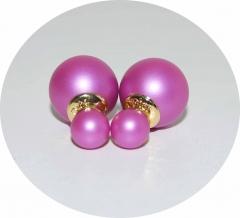 Серьги Mise En Dior розовые матовые