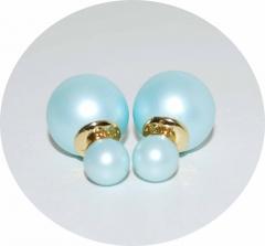 Серьги Mise En Dior бледно голубые