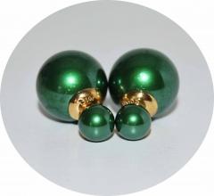 Серьги Mise En Dior жемчужно зеленые