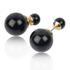 Серьги Mise En Dior черные