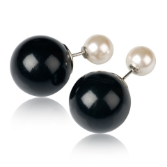 Серьги Mise En Dior черный и жемчуг