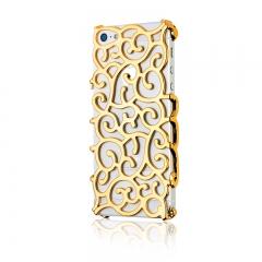 Чехол Завитки для iPhone 5S золотой