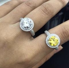 Кольцо с желтым камнем в стиле Тиффани