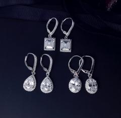 Серебряные серьги Капельки