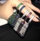 Кольцо с кисточкой черное 925