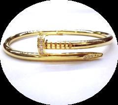 Браслет Cartier Гвоздь золотой со стразами