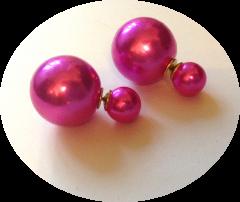 Пусеты шарики Dior жемчужные ярко розовые
