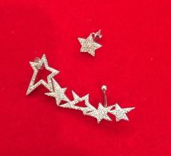 Кафф Звездочки серебряные