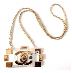 Чехол CHANEL Lego для iPhone 5 Gold