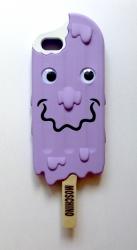Чехол Moschino Эскимо для iPhone 5s сиреневый