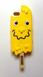 Чехол Moschino Эскимо для iPhone 5 желтый