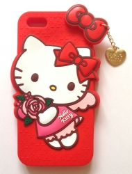 Чехол Hello Kitty для iPhone 5 красный