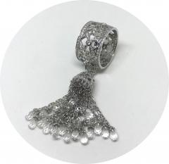 Кольцо Кисточка 925