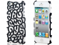 Чехол Завитки для iPhone 5S черный