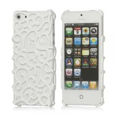 Чехол Завитки для iPhone 5 белый