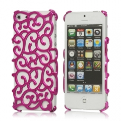 Чехол Завитки для iPhone 5S розовый