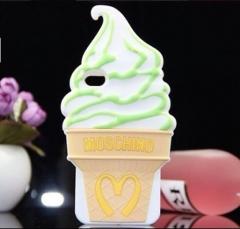 Чехол Moschino Мороженое для iPhone 4 зеленый
