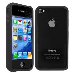 Бампер силиконовый для iPhone 4S Черный
