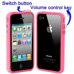 Бампер силиконовый для iPhone 4 Розовый