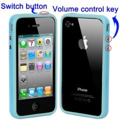 Бампер для iPhone 4 Голубой
