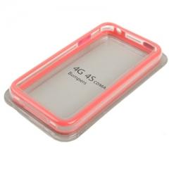 Бампер для iPhone 4S Розовый