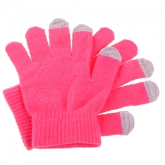 Перчатки для iPhone 4S розовые