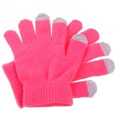 Перчатки для iPhone 5 розовые