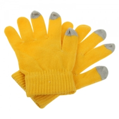 Перчатки для iPhone 4S желтые