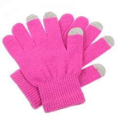 Перчатки для iPhone 4S малиновые