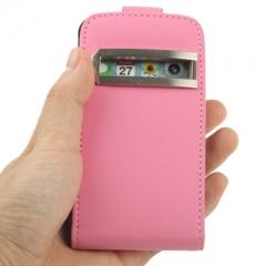 Чехол - книжка для iPhone 4S розовый