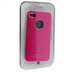 Чехол Air jacket  для Phone 4S малиновый