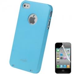 Чехол Moshi iGlaze для iPhone 5S голубой