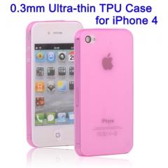 Ультратонкий чехол для iPhone 4 Розовый