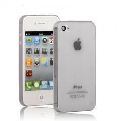 Ультратонкий чехол для iPhone 4S серый