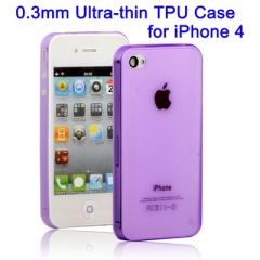 Ультратонкий чехол для iPhone 4 Фиолетовый