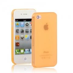Ультратонкий чехол для iPhone 4 оранжевый