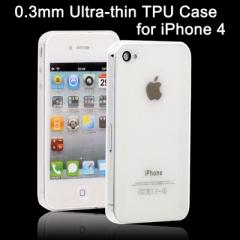 Ультратонкий чехол для iPhone 4S Прозрачный