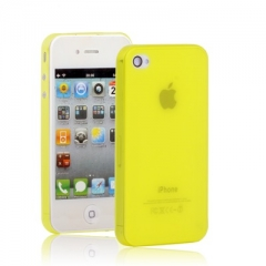 Ультратонкий чехол для iPhone 4 желтый