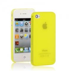 Ультратонкий чехол для iPhone 4S желтый