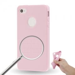 Чехол силиконовый для iPhone 4S розовый