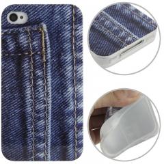 Чехол силиконовый Джинсы для iPhone 5