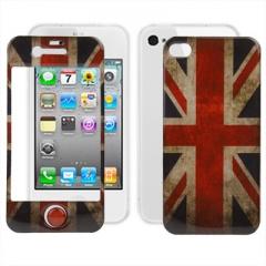 Пленка Британский флаг 3D для iPhone 4