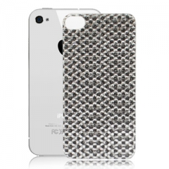 Пленочка со стразами на заднюю панель для iPhone 4