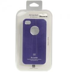 Чехол металлический для iPhone 4 фиолетовый
