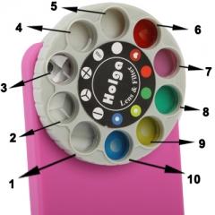 Чехол для iPhone 5 с эффектами для фото розовый